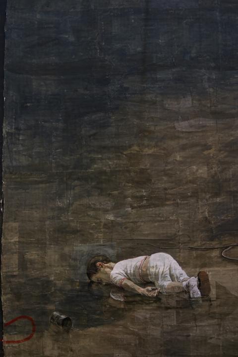 Alan Kurdi. Safet Zec, Exodus 2017, Detail, Venice