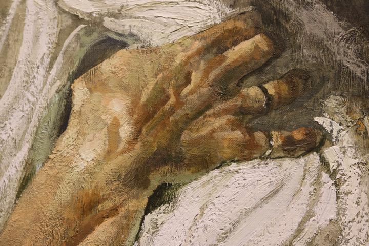 A hand. Safet Zec, Exodus 2017, Detail, Venice