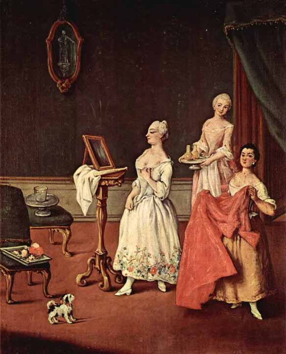 Ca' Rezzonico palace, Venice, Pietro Longhi, The toilette of the lady