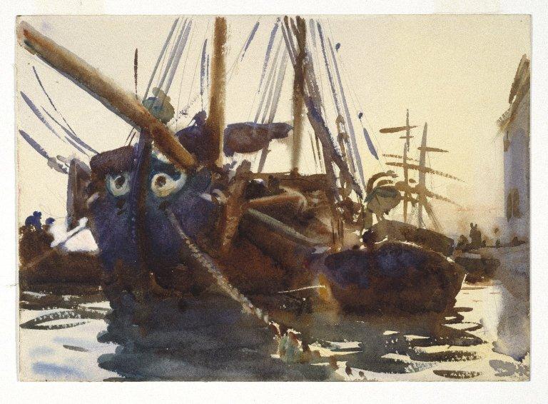 John Singer Sargent, Venetian boats, Brooklyn Museum, USA