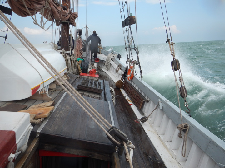 The Nuovo Trionfo trabacolo sailing, Venice