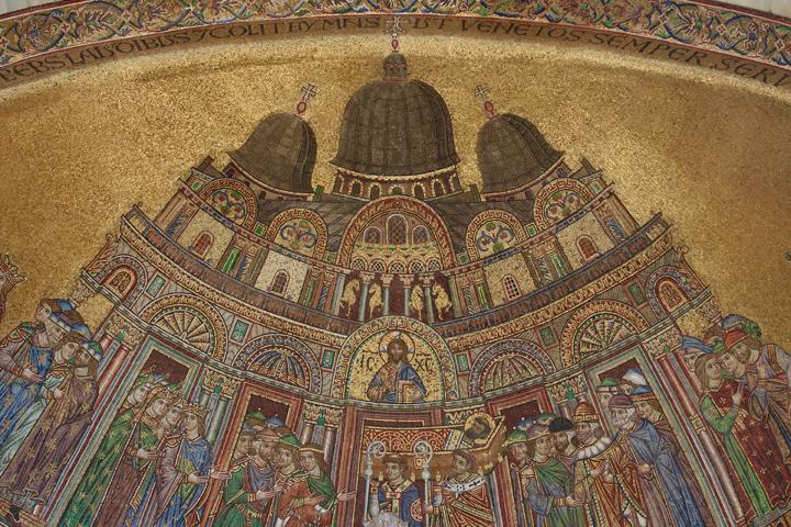 Saint Mark's Basilica, detail of the mosaics on the façade