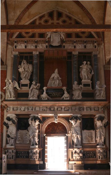 Venice, Tomb of Doge Giovanni Pesaro in the Frari church, 1669