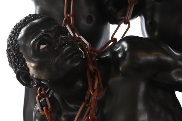 In chain moors by Andrea Brustolon in Ca' Rezzonico, Venice