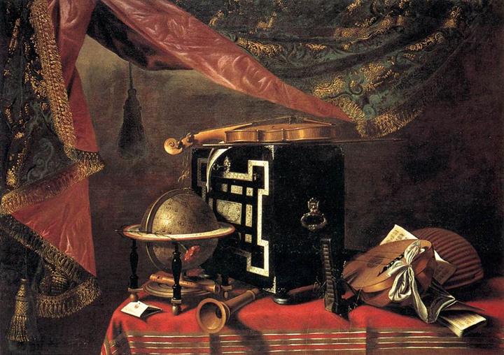 Evaristo Baschenis, Still life with Instruments, Bergamo Pinacoteca Accademia Carrara, ca. 1660