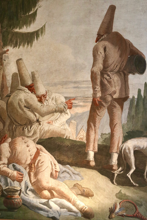 Giandomenico Tiepolo, The departure of Punchinello, Ca' Rezzonico, Venice, ca. 1793