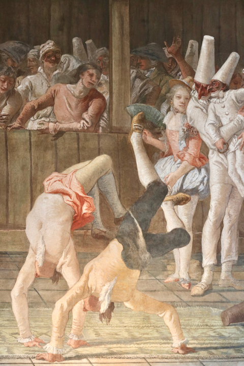 Giandomenico Tiepolo, Punchinello and the acrobats, Ca' Rezzonico, Venice, ca. 1793