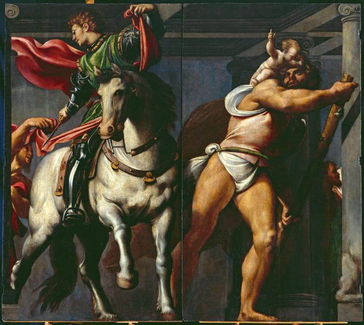 Giovanni Antonio de' Sacchis detto Da Pordenone, San Martino e San Cristoforo, 1527- 1528 circa Venezia, Scuola Grande di San Rocco