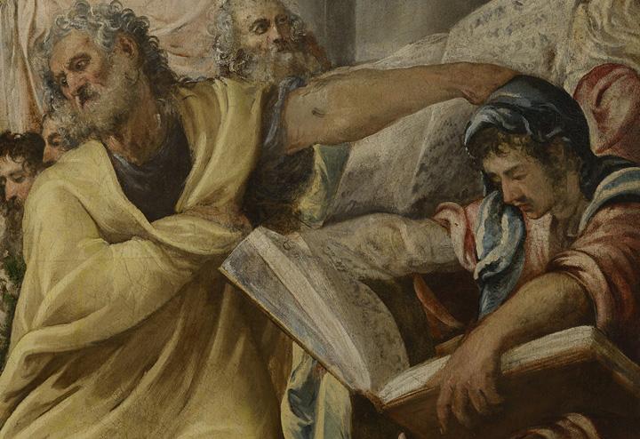Jacopo Tintoretto Disputa di Gesù nel tempio, 1545‐1546 Milano, Veneranda Fabbrica del Duomo © foto Malcangi, Detail