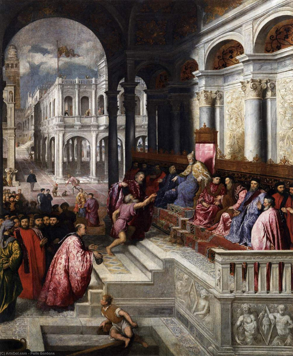 Paris Bordon, The Presentation of the Ring to the Doge, Accademia Galleries, Wikioo.org