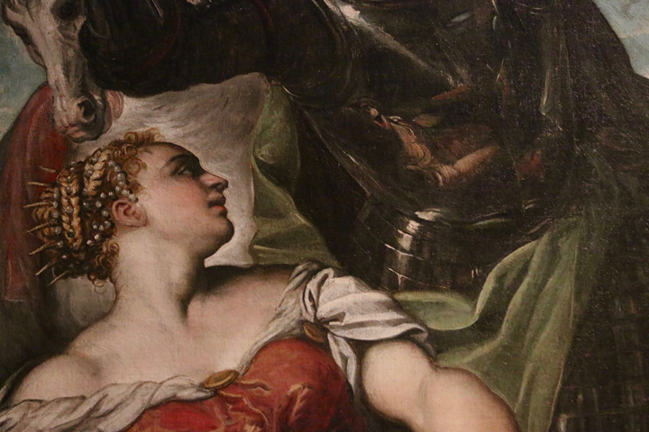 Jacopo Tintoretto, St George, St Louis and the princess, 1552 Gallerie dell'Accademia, Venice, detail