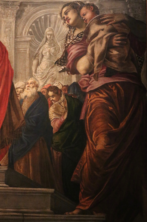 Jacopo Tintoretto, The Presentation of Christ to the Temple, 1554-1556 Gallerie dell'Accademia, Venice, detail