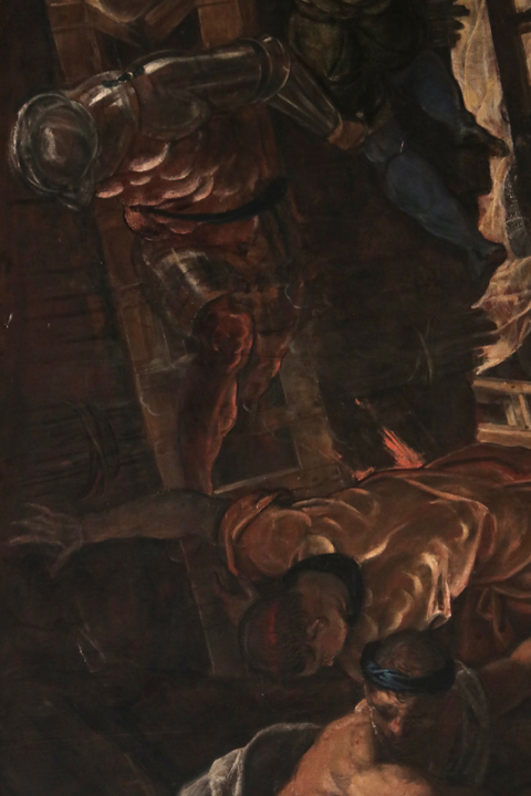 Jacopo Tintoretto, The Battle of Zara, Doge's palace, Venice, detail