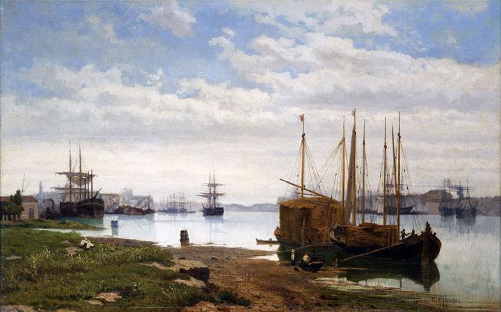 Guglielmo Ciardi, The island of Giudecca, 1885 ca.