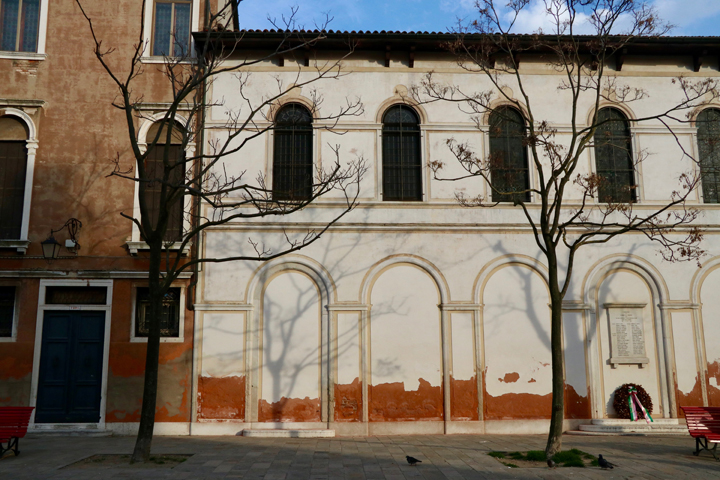 St. George's Anglican Church in Venice, exterior in Campo San Vio