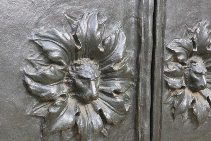St. George's Anglican Church in Venice, detail of bronze doors