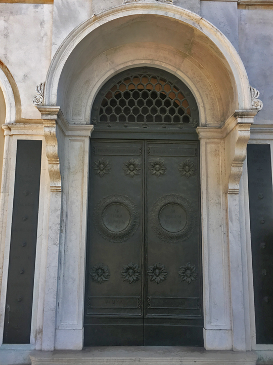 St. George's Anglican Church in Venice, its bronze doors