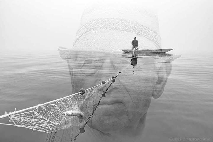 "A fisherman and the lagoon, ""Bepi Suste"" Burano - Venice, photo by Maurizio RossiA fisherman and the lagoon, ""Bepi Suste"" Burano - Venice, photo by Maurizio Rossi"