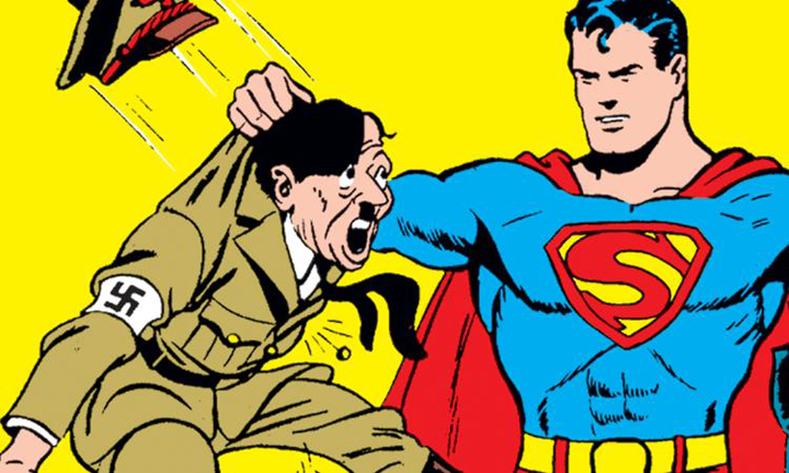 Jo Shuster's Superman fighting Nazis