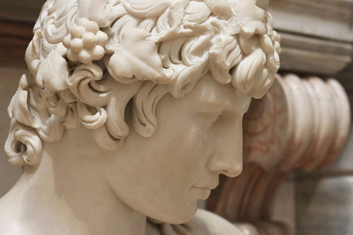 Antinous as Apollo, either AD 130-138 or 16th Century, white marble, National Archeological Museum in Venice now in Domus Grimani