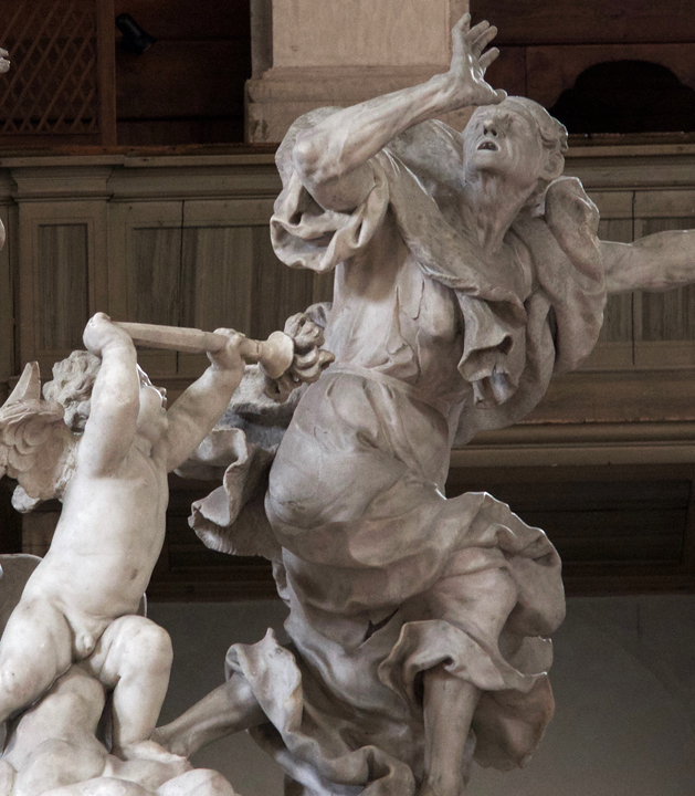 The representation of Plague by the Altar of Santa Maria della Salute church in Venice by Juste Le Court, 1670-74