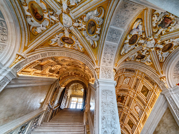 The Golden staircase at the Doge's palace in Venice
