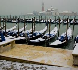 Snow and gondolas