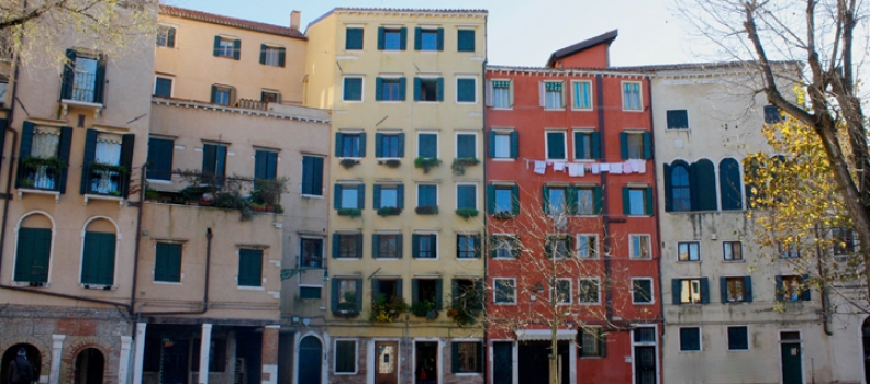 The Campo of the Ghetto Novo in Venice